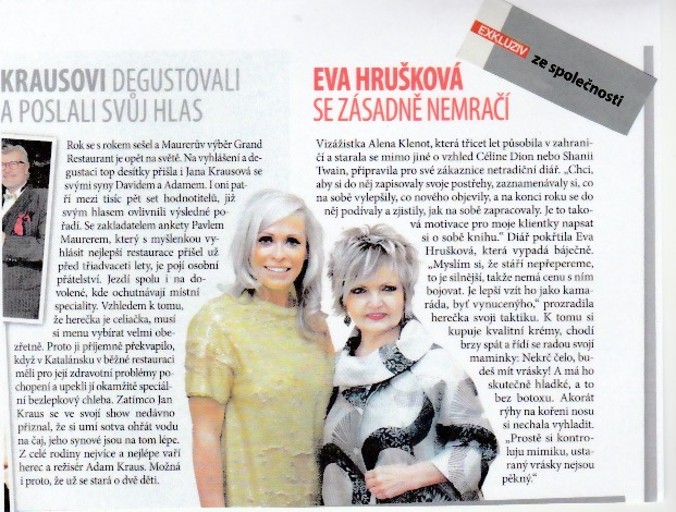 Magazine Exkluzive was at the launch of anti-aging diary Aleny Klenot.